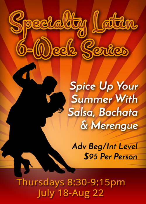 Specialty Latin 6-Week Series - Beg/int level Group Swing Class - Salsa, Bachata and Merengue